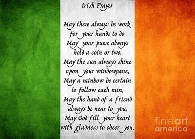 Digital Art - Irish Prayer by JH Designs