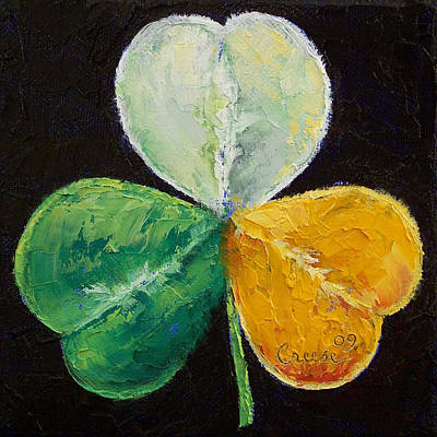 Celtics Painting - Irish Shamrock by Michael Creese