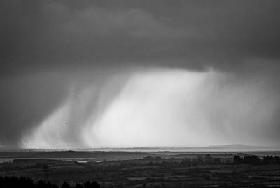 Photograph - Irish Storm Front Sweeps Over Shannon River Valley by James Truett