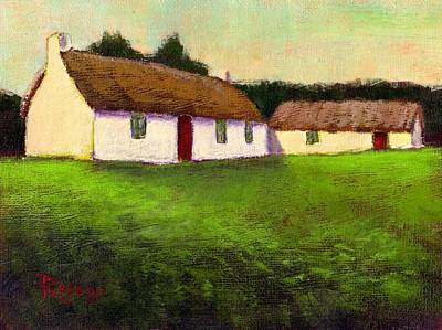 Patrick Painting - Irish Thatched Roof Cottages by Bernie Rosage Jr