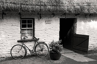 Photograph - Irish Traditional Thatch Roof Cottage  by Pierre Leclerc Photography