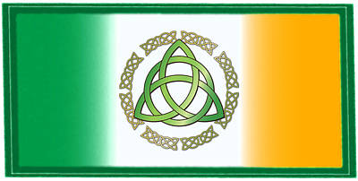 Digital Art - Irish Triquetra by Ireland Calling