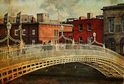 Photograph - Irish Venice. Streets Of Dublin. Painting Collection by Jenny Rainbow