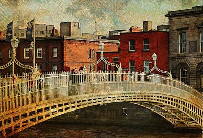 Irish Venice. Streets Of Dublin. Painting Collection Print by Jenny Rainbow