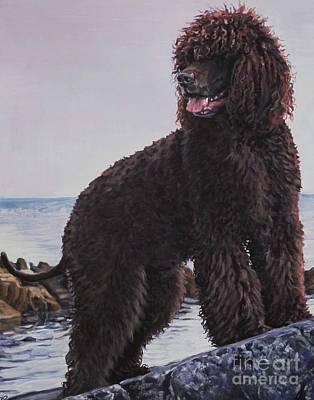 Painting - Irish Water Spaniel by Lee Ann Shepard