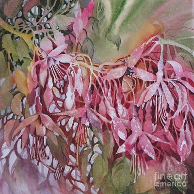 Painting - Irish_fuschia by Nancy Newman