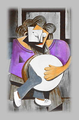 Mixed Media - Irish Percussionist by Val Byrne