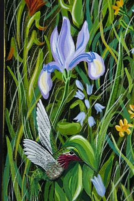 Painting - Iris's Hummingbird by Jennifer Lake
