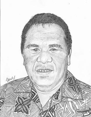 Drawing - Iroj Jurlang by Lew Davis