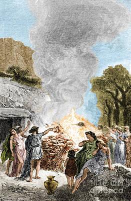 Iron Age, Funeral Ceremony Art Print