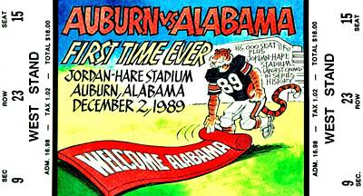 Photograph - Iron Bowl '89 by Benjamin Yeager