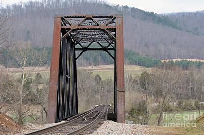 Natural Bridge Station Photograph - Iron Bridge by Brenda Dorman