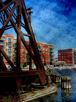 Photograph - Iron Bridge End W Metal by Anita Burgermeister