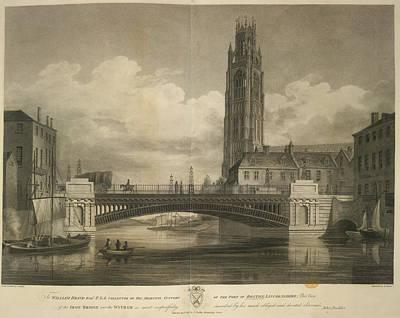Iron Bridge Over The Witham Art Print