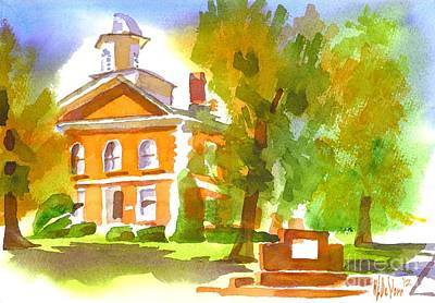 Iron County Courthouse In Watercolor Original