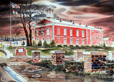 Dramatic Lighting Painting - Iron County Courthouse No W102 by Kip DeVore