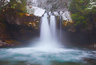 Winter Scenes Photograph - Iron Creek Freeze by Darren  White