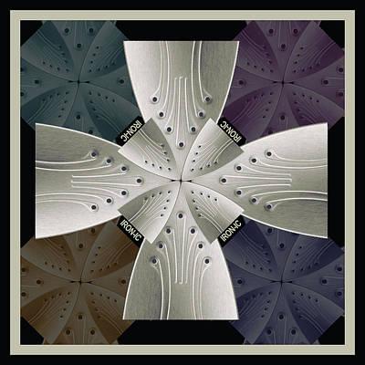 Lichtenstein Photograph - Iron Cross Ironic Cross by Tony Rubino