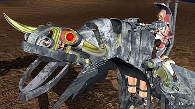 Digital Art - Iron Dragon by Robert Crepeau