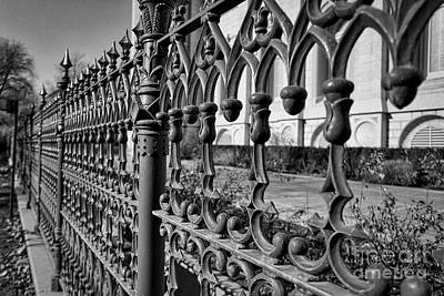 Photograph - Iron Fence Detail by Kate Purdy