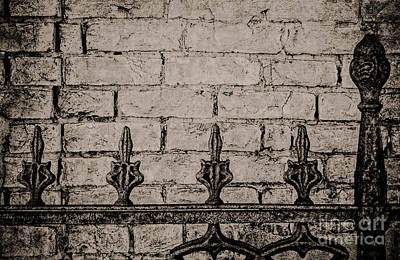 New Orleans Cemeteries Digital Art - Iron Fence - New Orleans by Kathleen K Parker