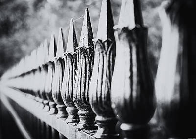 Fence Photograph - Iron Fence by Ryan Wyckoff