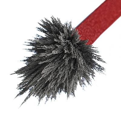 Iron Filings On A Magnet Art Print