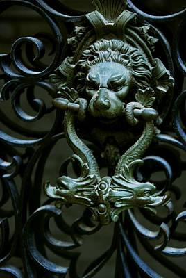 Photograph - Iron Gate Door Knocker by Eric Tressler