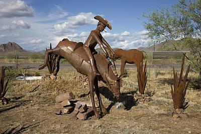 Photograph - Iron Horses And Cacti Near Sedona In Arizona by Carol M Highsmith