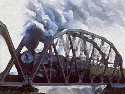 Painting - Iron Horses And Iron Bridges by Dennis Buckman