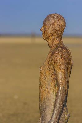 Antony Gormley Photograph - Iron Man At Crosby Beach by Paul Madden