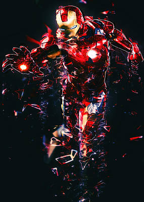 Iron Man Digital Art - Iron Man Fractal by Renato Armignacco