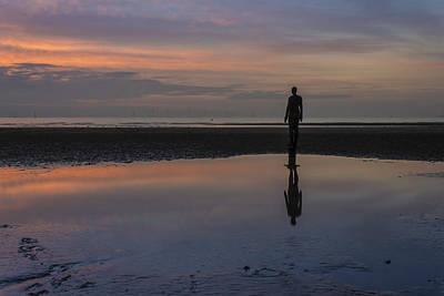 Iron Man Reflection At Crosby Beach Art Print