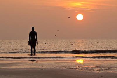 Photograph - Iron Men Crosby Beach Sunset by Phillip Orr