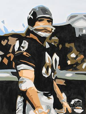 Painting - Iron Mike Ditka by Steven Dopka