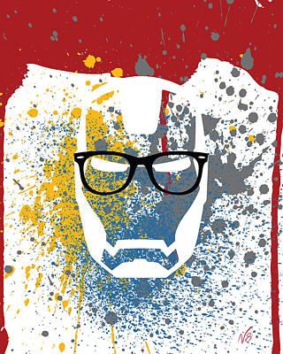 Iron-ray-ban-man Art Print by Decorative Arts