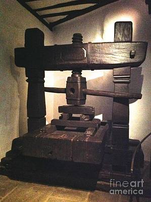 Photograph - Iron Shaping Press by John Potts
