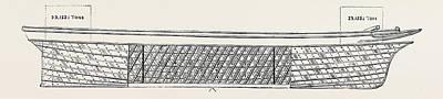 Iron Ship Built On Taylersons Diagonal Principle Resisting Art Print by English School