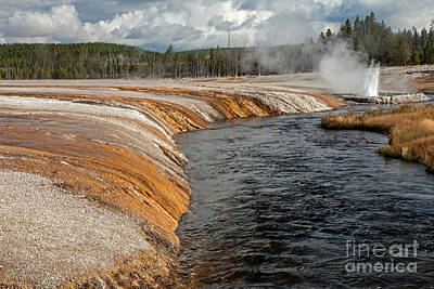 Photograph - Iron Spring Creek In Black Sand Geyser Basin by Fred Stearns