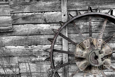 Iron Tractor Wheel Art Print by Scott Hansen