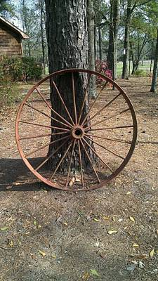 Photograph - Iron Wheel by Lew Davis