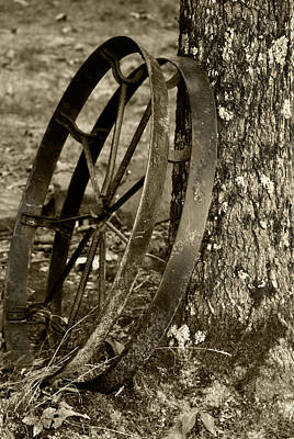 Art Print featuring the photograph Iron Wheel by Linda Segerson