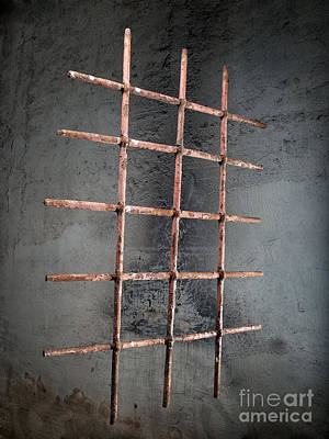 Dungeon Photograph - Iron Window Grille by Sinisa Botas