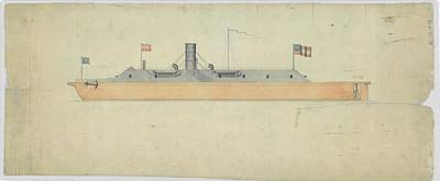1860s Photograph - Ironclad Warship Css Virginia by Us National Archives