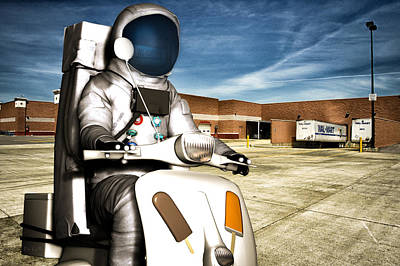 Science Fiction Royalty-Free and Rights-Managed Images - Astronaut Selling Creamsicles by Bob Orsillo