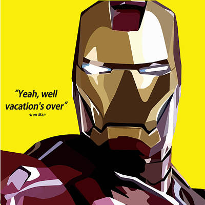 Ironman Art Print by Aura Art