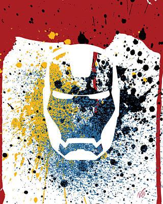 Ironman Goes Splat Art Print by Decorative Arts