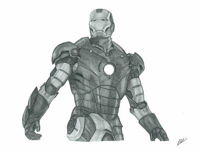 Ironman Drawing - Ironman by Rich Colvin