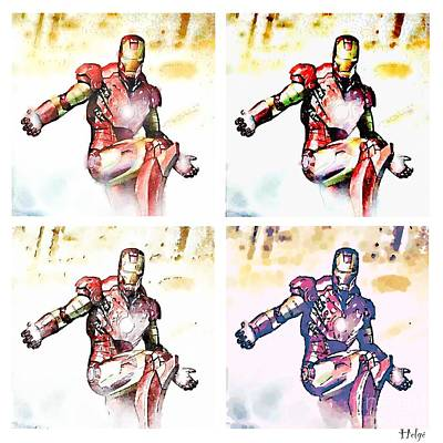 Comics Painting - Irons by Helge
