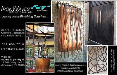 Sailfish Mixed Media - Ironwaves Custom Iron Art by Mark Ansier